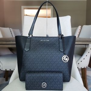 Michael Kors Kimberly tote Bag & Wallet set Black